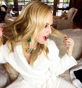 Rachel Zoe at home the morning after the Oscars