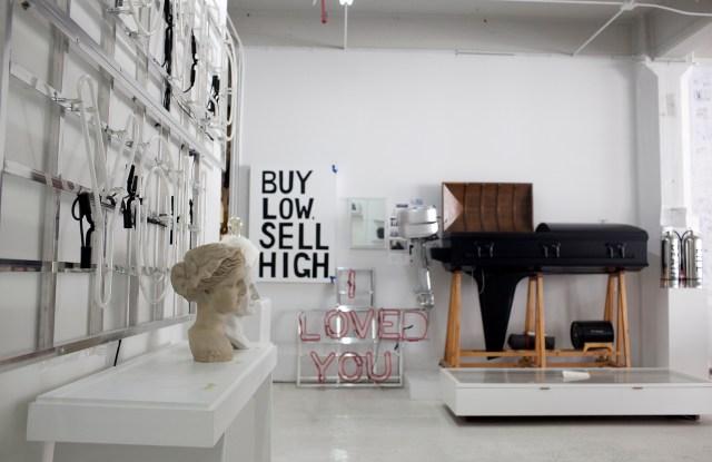 Sebastian Errazuriz's studio.