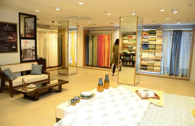 The interior of Fabindia's new concept store.