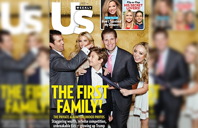 The Feb. 6 cover of Us Weekly .
