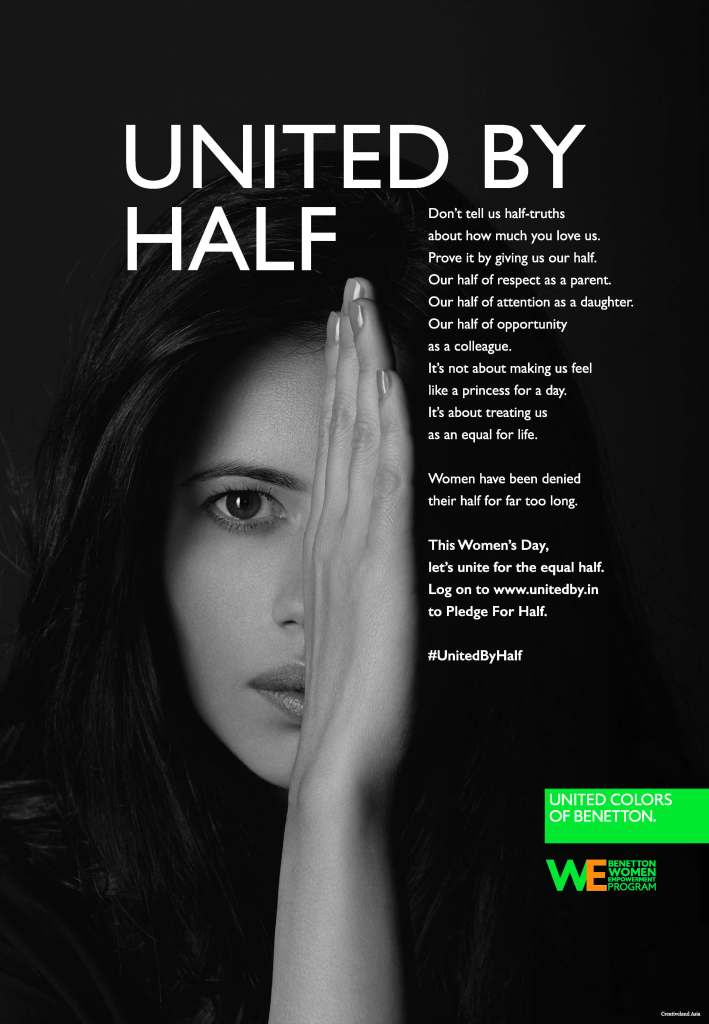 Benetton Group #UnitedByHalf campaign