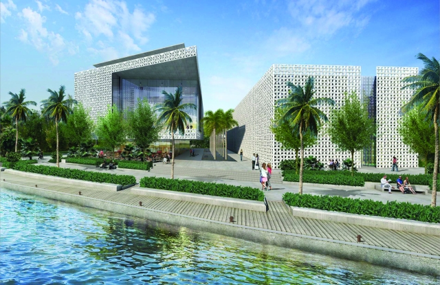 A rendering of Naeem Khan's Miami facility that is scheduled to open in 2019.
