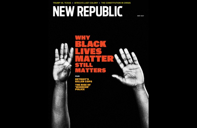 A recent cover of The New Republic.