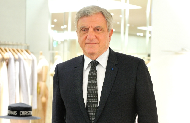 Sidney Toledano at the new Dior boutique in Ginza.