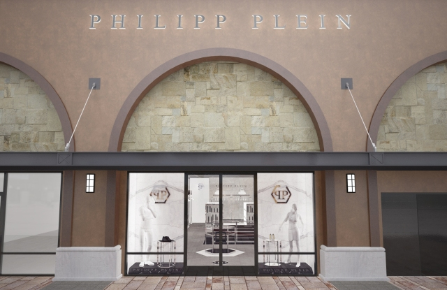 A rendering of the Philipp Plein store at Desert Hills Premium Outlets