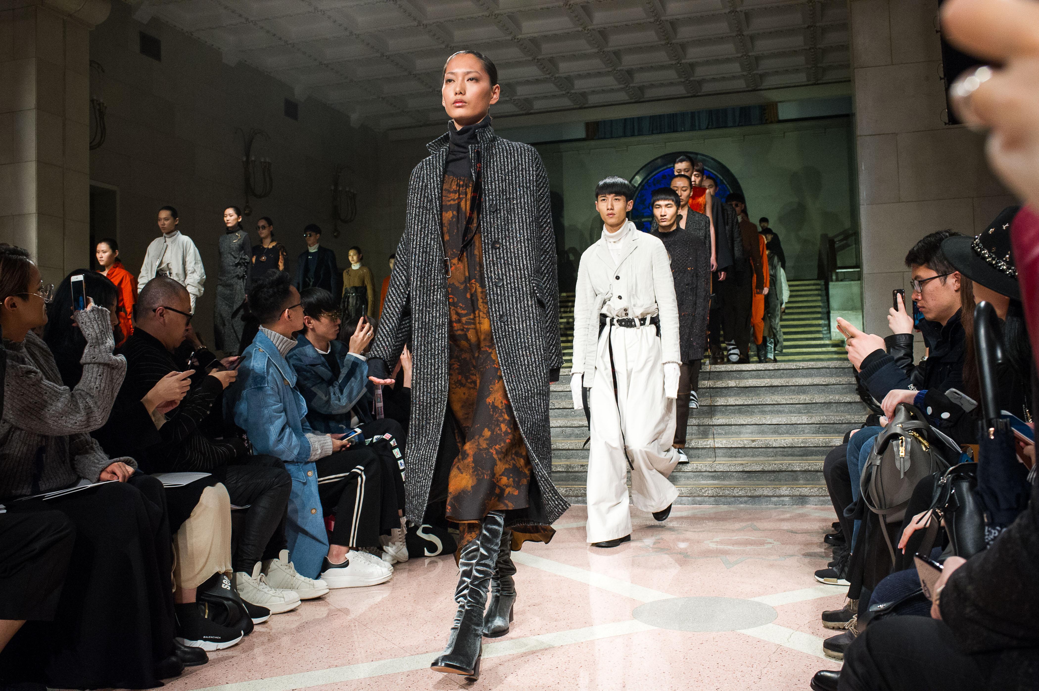 April 10, 2017, Shanghai, China - Damir Doma show at Shanghai Fashion Week.
