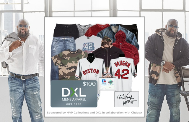 Mo Vaughn appears in the sweepstakes promotion for his brand.