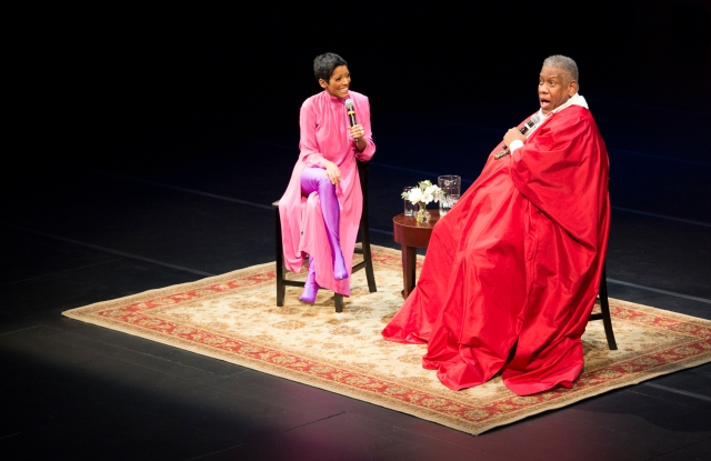 Tamron Hall and André Leon Talley at BAM.