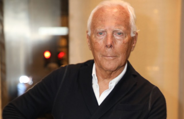 Giorgio Armani at the inauguration of the new Armani Casa flagship in Milan.