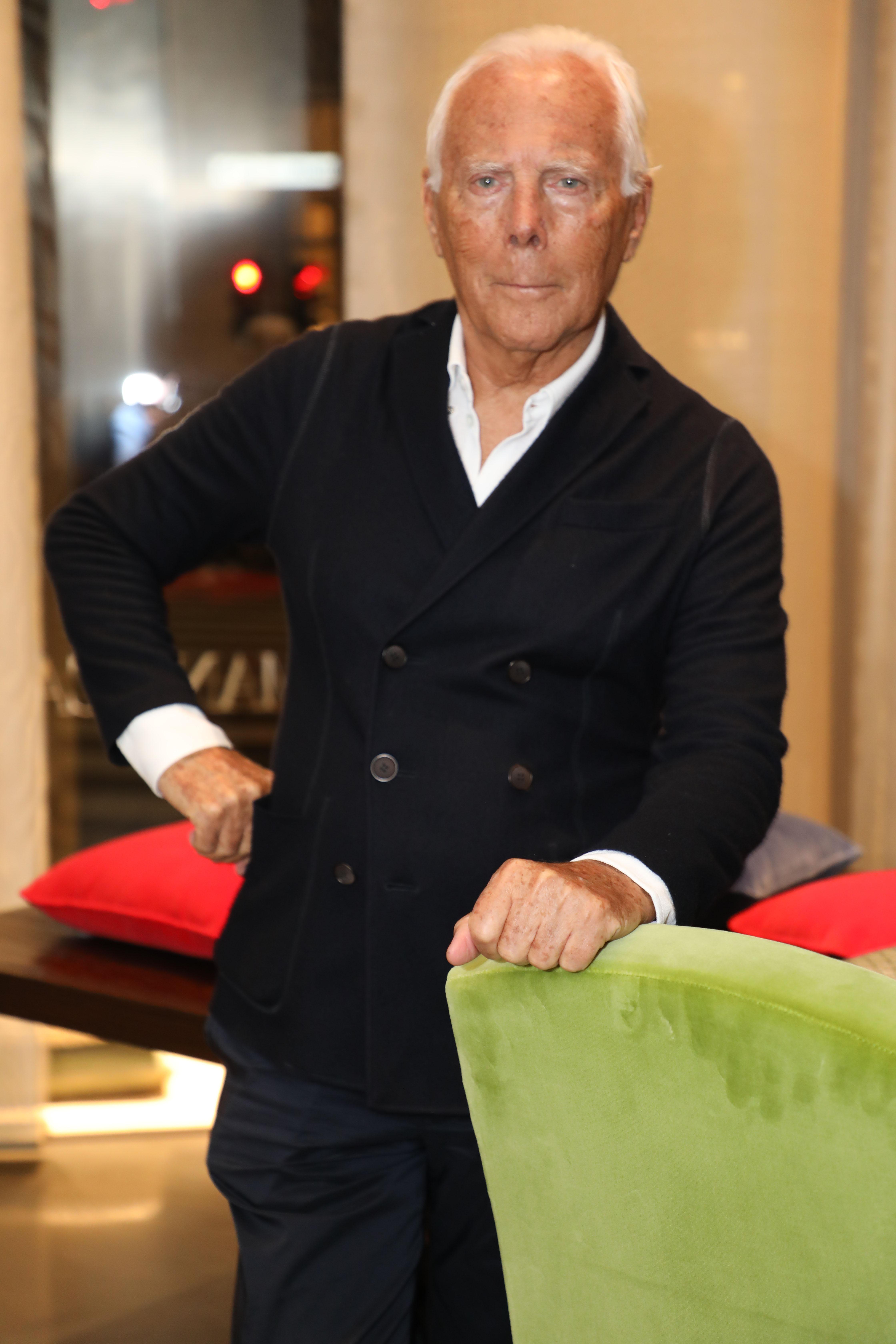 Giorgio Armani at the inauguration of the new Armani Casa flagship in Milan.