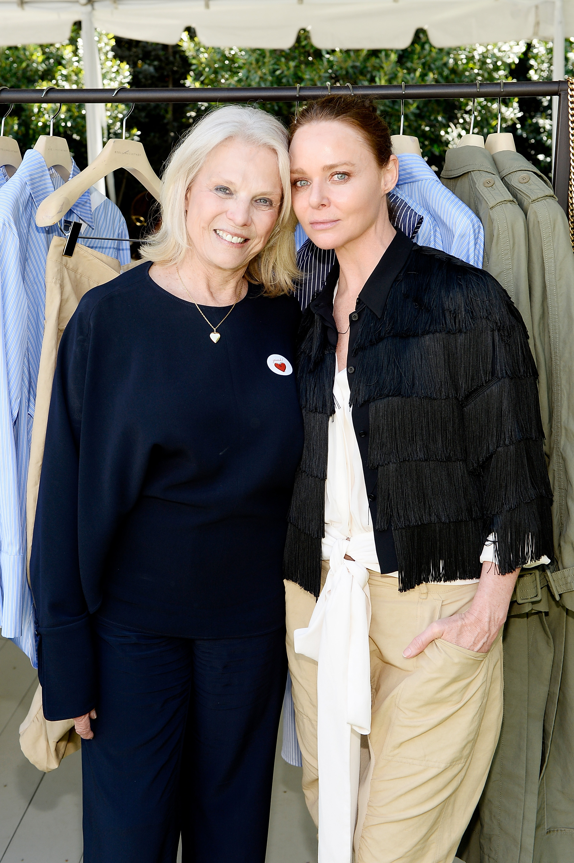 Astrid Heger and Stella McCartney attend the annual H.E.A.R.T. Brunch featuring Stella McCartney on April 18, 2017 in Los Angeles, California. (Photo by Stefanie Keenan/Getty Images for Stella McCartney)