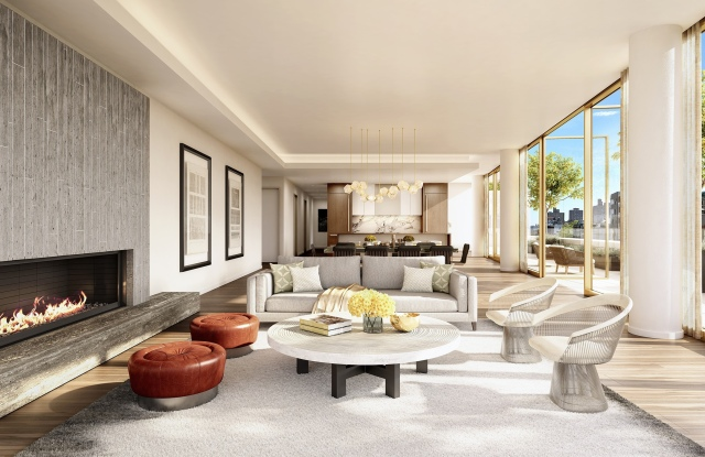 A rendering of the one remaining available penthouse at 75 Kenmare.