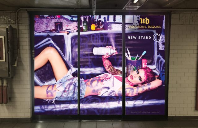 Urban Decay takes over The New Stand in Union Square to promote the new Basquiat Collection.