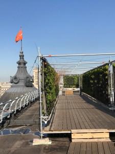 A view of the Le Jardin Perché at the BHV Marais flagship.