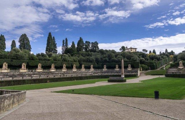 The Boboli Gardens in Florence.