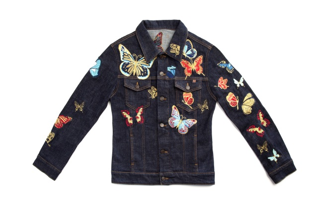 Atelier Notify's embroidered denim jacket.
