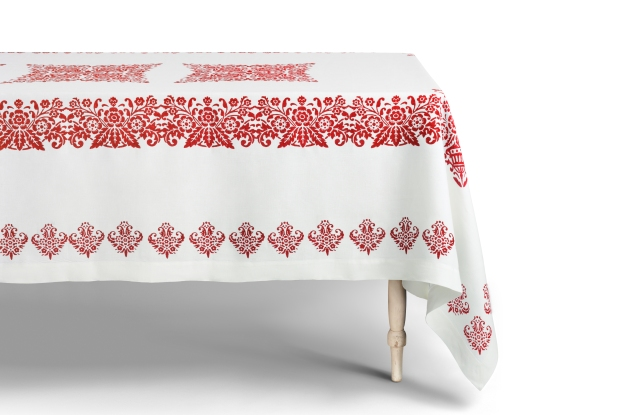 A tablecloth from the Cabana collection exclusively available at Moda Operandi.