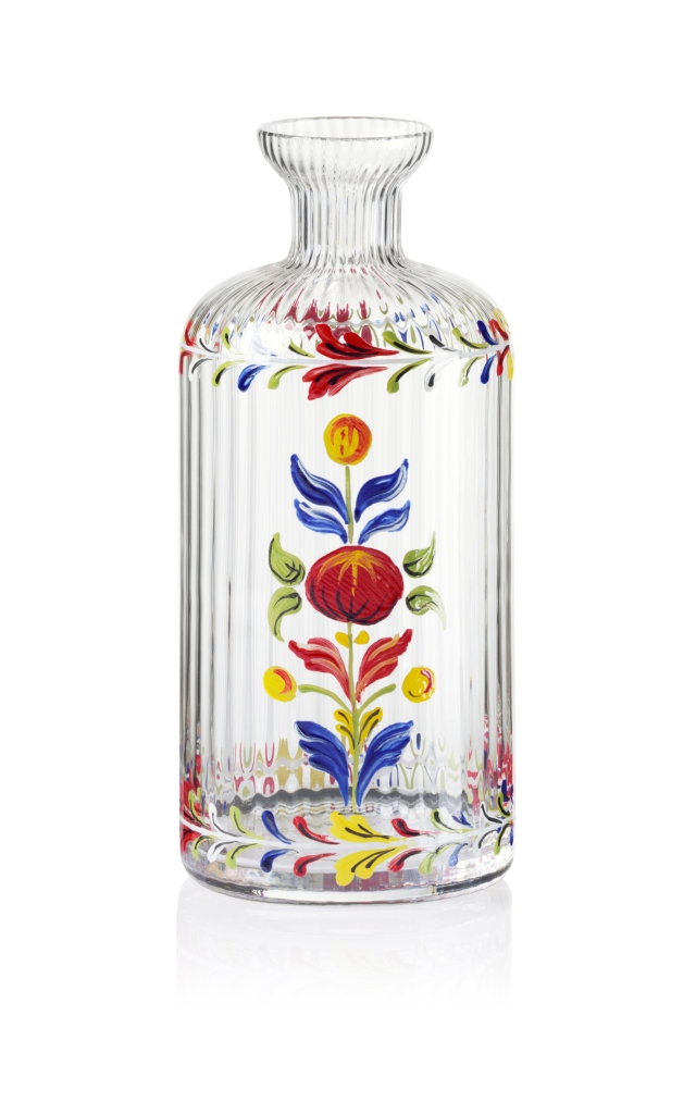 A glass bottle from the Cabana collection exclusively available at Moda Operandi
