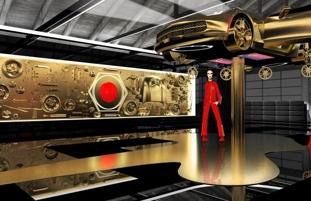 "A rendering of Cartier's ""Precious Garage"" installation."