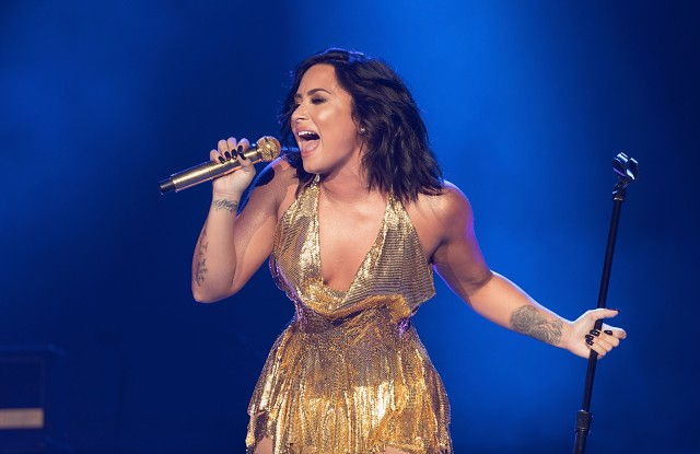 ARLINGTON, TX - MARCH 25:  Demi Lovato performs onstage during BeautyKind Unites: Concert for Causes at AT&T Stadium on March 25, 2017 in Arlington, Texas.  (Photo by Rick Kern/Getty Images for BeautyKind: Concert for Causes)