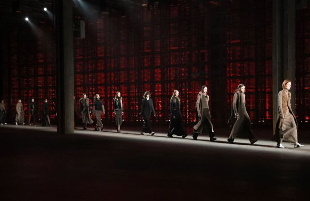 The finale at the Diesel Black Gold fall 2017 show