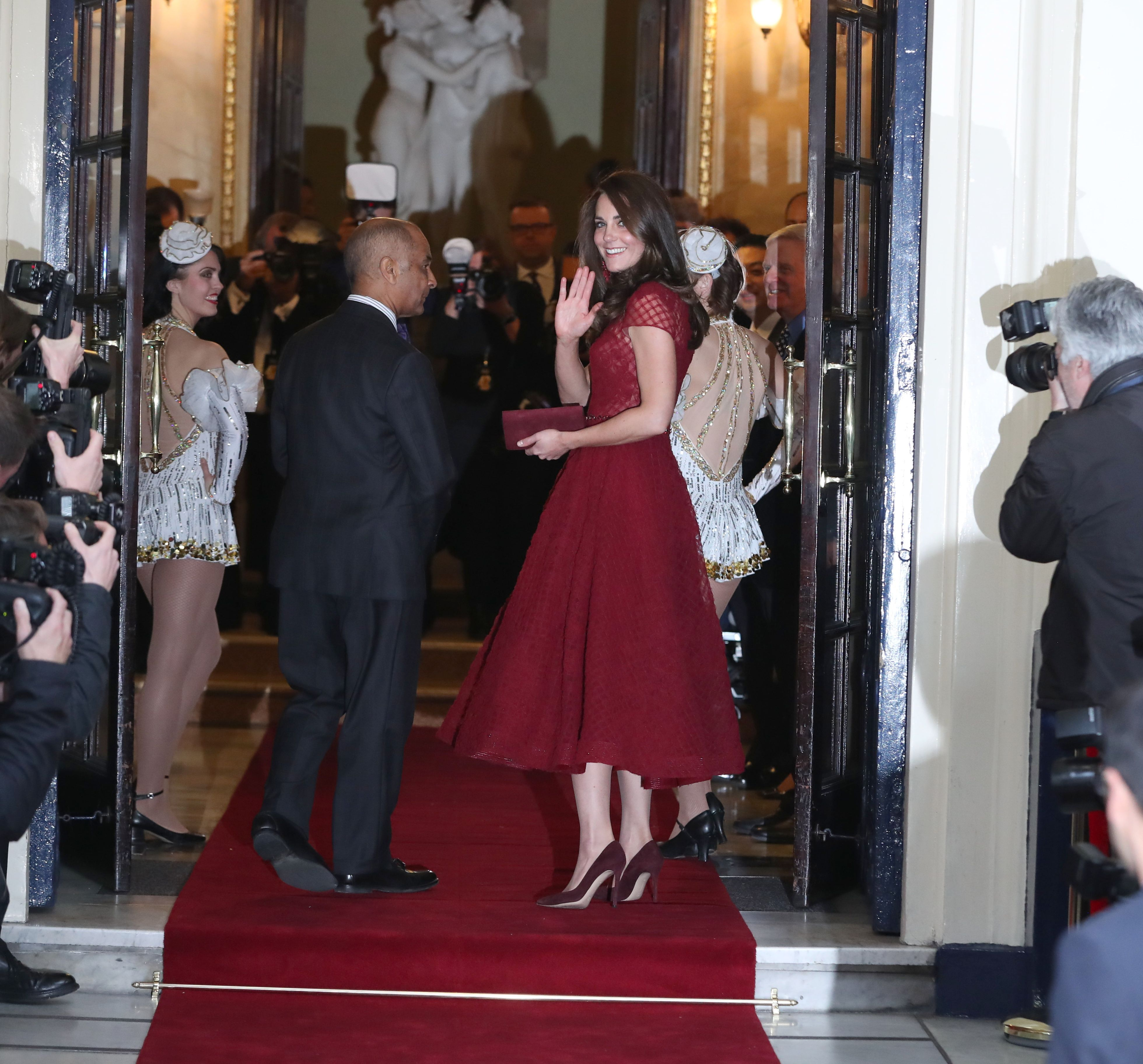 The Duchess of Cambridge in Marchesa Notte