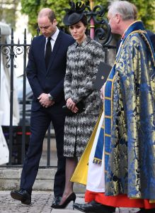 Prince William and the Duchess of Cambridge (in Missoni) after laying a wreath at Westminster Abbey in London.