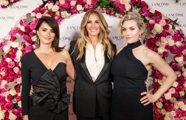 Penélope Cruz, Julia Roberts and Kate Winslet.