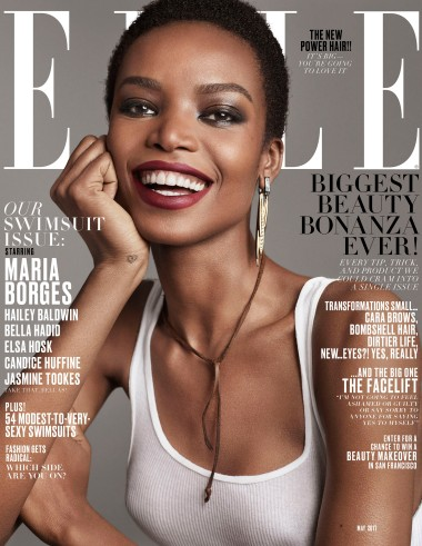 Elle's May cover featuring Maria Borges.