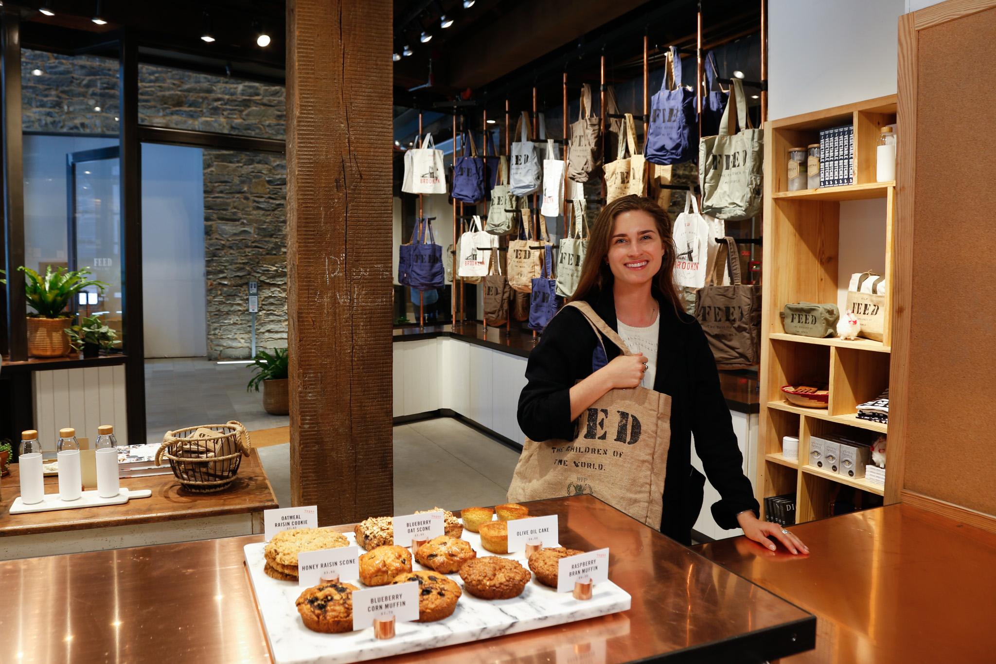 Lauren Bush Lauren at the FEED Shop & Café in DUMBO.