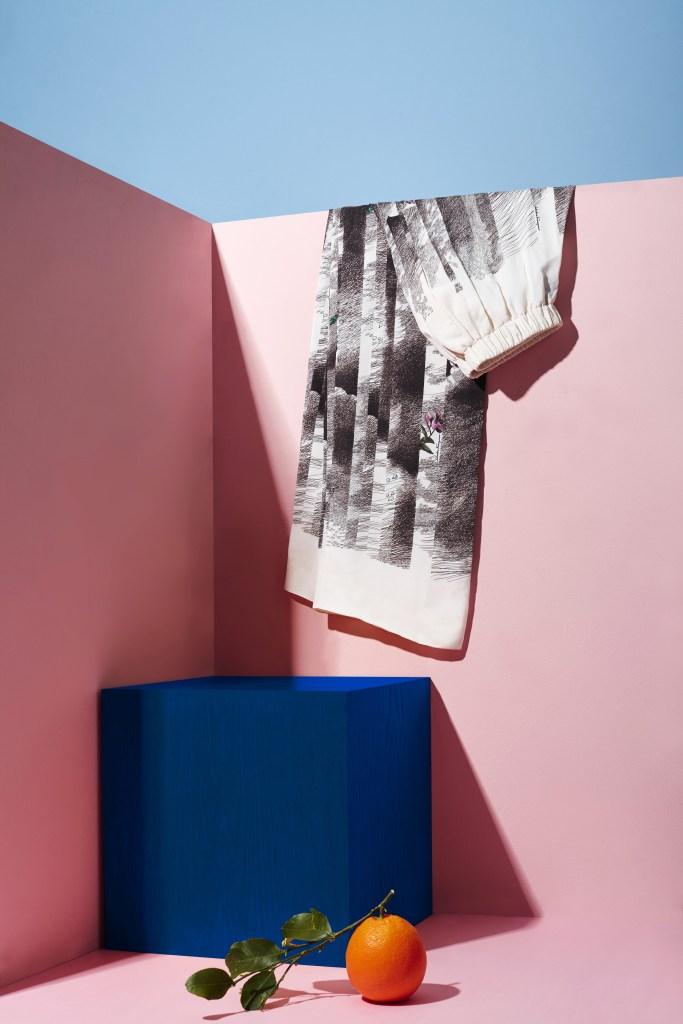 A look from the Orange Fiber capsule collection by Salvatore Ferragamo