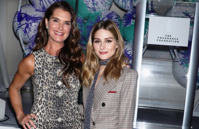 Brooke Shields and Olivia Palermo The Fragrance Foundation Awards Finalist's luncheon