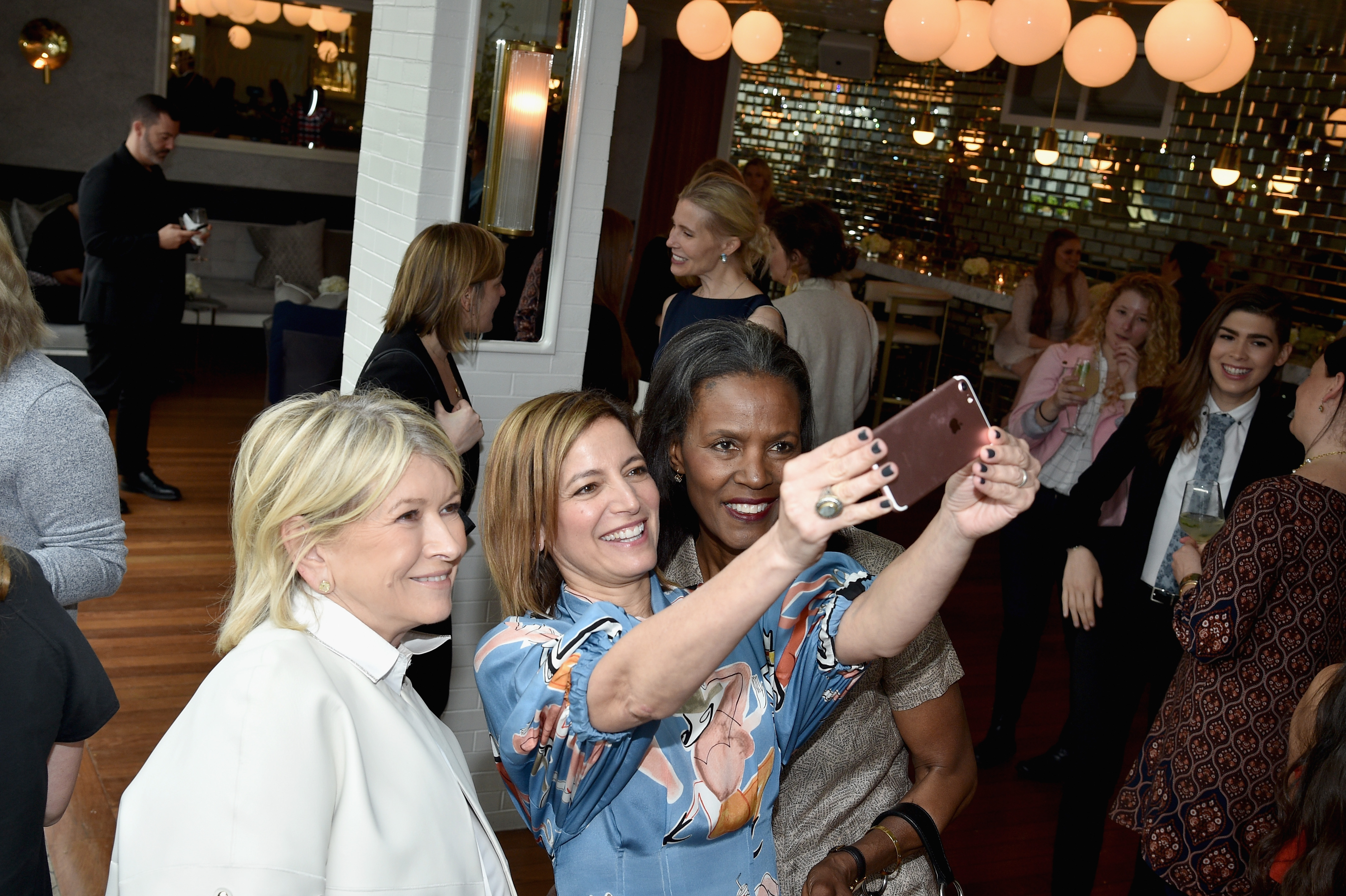 NEW YORK, NY - APRIL 25:  (L-R) Martha Stewart, Cindi Leive and Katiti Kironde attend the Glamour and L'Oreal Paris 2017 College Women of the Year Celebration at La Sirena on April 25, 2017 in New York City.  (Photo by Bryan Bedder/Getty Images for Glamour)