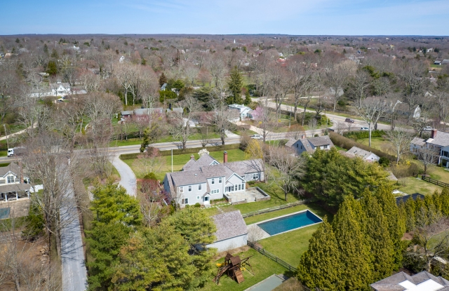 The house is in the village of Bridgehampton and set on 1.2 acres of land, with 6,600 square feet of living space spread over three levels.
