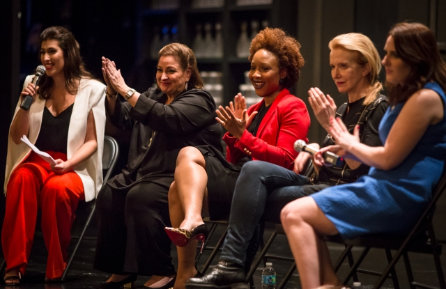 Jodi Katz, Laura Geller, Ukonwa Ojo, Catherine Zuber and Christina Bennett discuss War Paint.