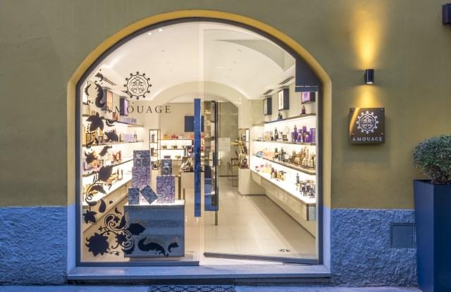 Amouage store in Milan.