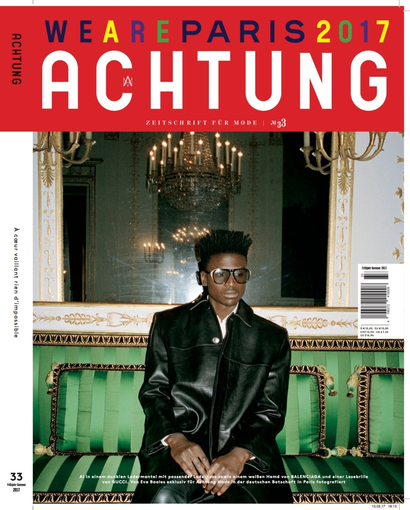 The cover of Achtung's Paris issue.