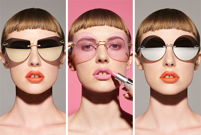 Glasses from Karen Walker's Eyes by Karen, Lips by Mac collection.