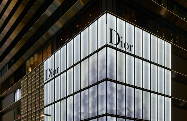 The exterior of the new Dior flagship in Tokyo's Ginza Six development.