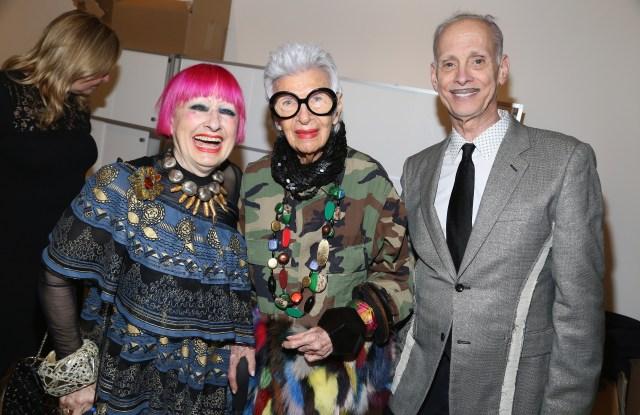 Zandra Rhodes, Iris Apfel and John Waters