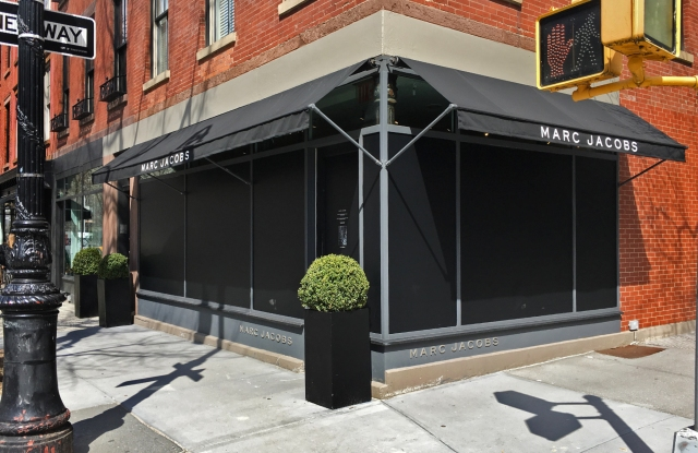 The closed Marc Jacobs store at 403 Bleecker Street.