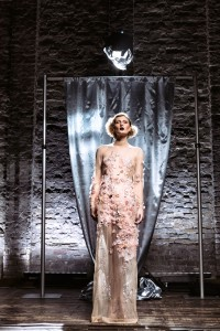 Marlene Dietrich's vision of the glowing naked dress produced by ElektroCouture.