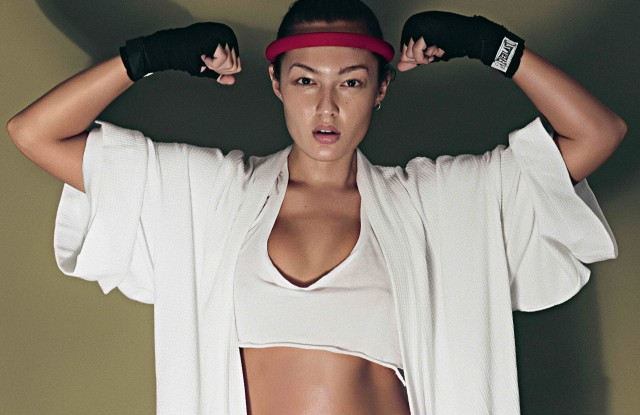 Model-Muay Thai fighter Mia Kang