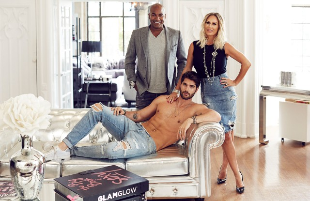 Nick Bateman with the co-founders of Glamglow Glenn Dellimore and Shannon Dellimore.
