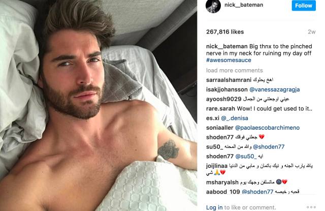 An Instagram post from Nick Bateman.