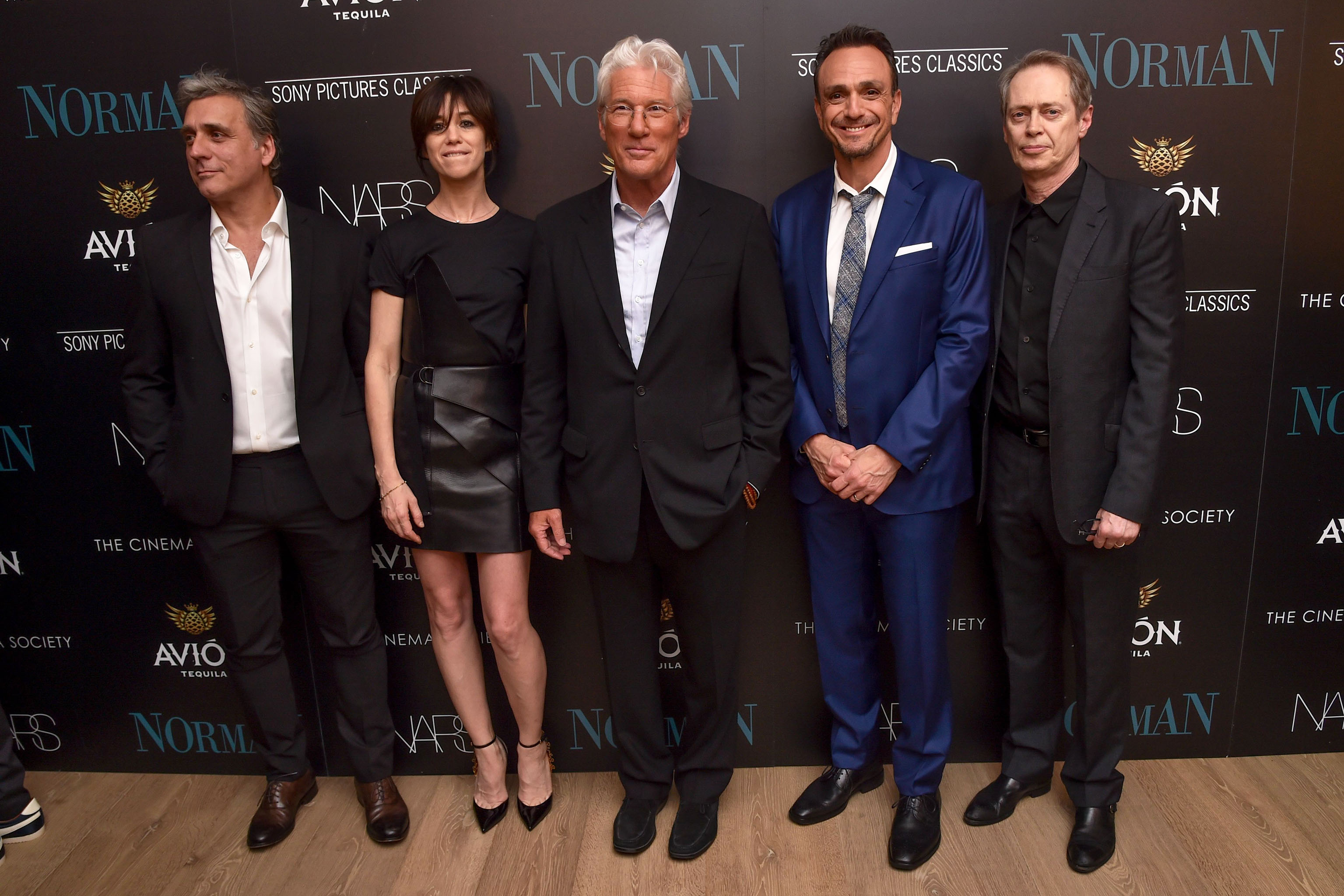 Lior Ashkenazi, Charlotte Gainsbourg, Richard Gere, Hank Azaria and Steve BuscemiThe Cinema Society with NARS and Avion host a screening of Sony Picture Classics' 'Norman', Arrivals, New York, USA - Apr 12 2017