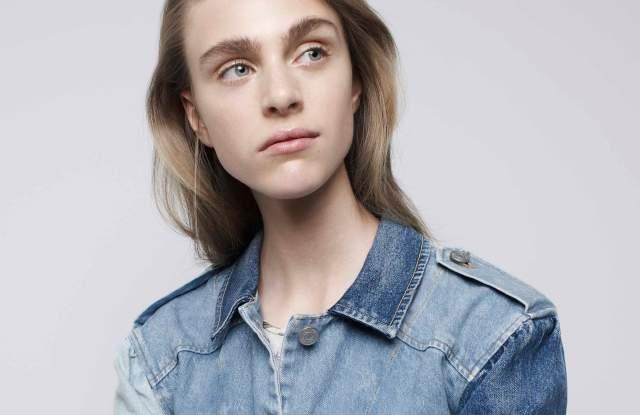Rebecca Taylor Denim Patched Jacket, Floral Skirt