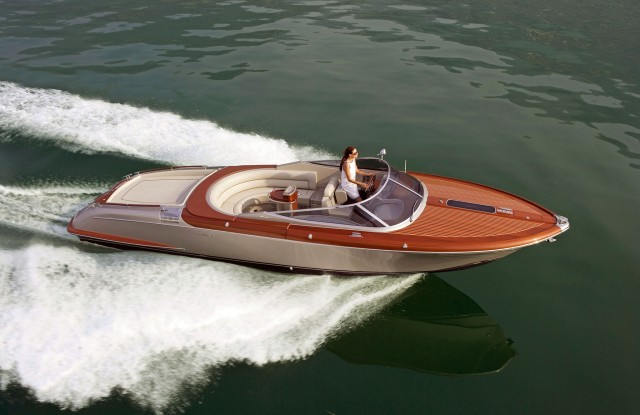 USA: Feature Rates Apply MANDATORY CREDIT: *see individual credits/REX Shutterstock*Please mention Ventura (The Riva exclusive dealer) in any accompanying text*Only for use in this story. Editorial Use Only. No stock, books, advertising or merchandising without photographer's permissionMandatory Credit: Photo by Riva Yachts/REX/Shutterstock (5540353h)A cream Riva Aquariva Super pictured on the waterBest of boat show, - Jan 2016FULL COPY: http://www.rexfeatures.com/nanolink/rtufSome say that if God had been a boat designer, a Riva is what he would have come up with.A Riva is the Bentley of the sea. Men drool, women swoon, and small boys stand in awe. These aren't just boats, they are the epitome of seagoing glamour. The Riva Aquariva Super was the star of the London Boat Show 2016. The boat on show was in a 'Bentley Blue' colour and is sold exclusively by Ventura in the UK.Riva has been a symbol of ultimate glamour and style for more than half a century.
