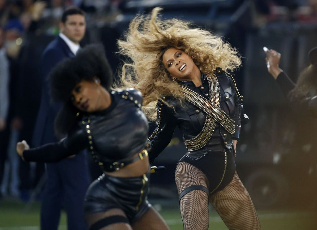 """Beyonce Beyonce performs during halftime of the NFL Super Bowl 50 football game in Santa Clara, Calif. Red Lobster said in a statement that its sales surged after Beyonce mentioned the chain in a """"Formation"""" lyric. The seafood chain known for its cheddar biscuits says sales surged 33 percent on Sunday from a year agoRed Lobster-Beyonce, Santa Clara, USA"""