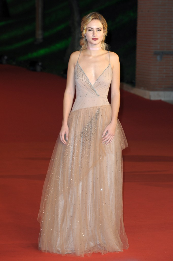 Grace Van Patten in Valentino at the 'Tramps' premiere, Rome Film Festival